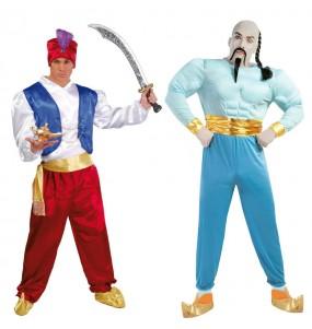 L'originale e divertente coppia di Aladdin e Genio per travestirsi con il proprio compagno