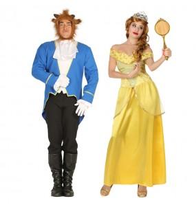 Travestimenti coppia La Bella e la Bestia divertenti per travestirti con il tuo partner