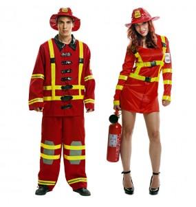 Travestimenti coppia Pompieri divertenti per travestirti con il tuo partner