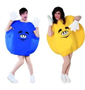 L'originale e divertente coppia di Caramella blu e gialla per travestirsi con il proprio compagno