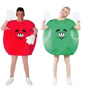 Travestimenti coppia Candy verde e rosso divertenti per travestirti con il tuo partner