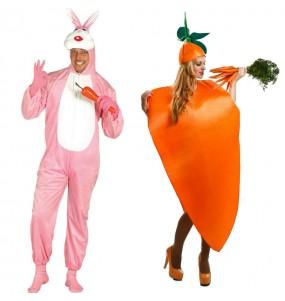 L'originale e divertente coppia di Coniglio e Carota per travestirsi con il proprio compagno