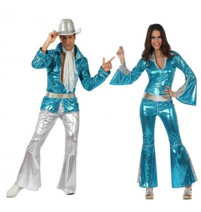 Travestimenti coppia discoteca blu divertenti per travestirti con il tuo partner