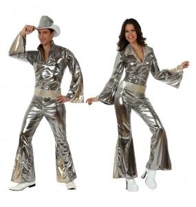 Travestimenti coppia discoteca argento divertenti per travestirti con il tuo partner