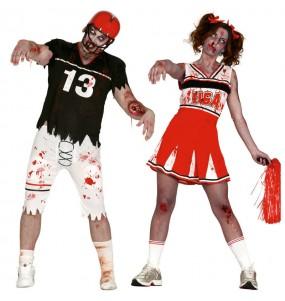 L'originale e divertente coppia di Football americano zombies per travestirsi con il proprio compagno