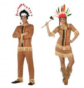 L'originale e divertente coppia di Indiani colorati per travestirsi con il proprio compagno