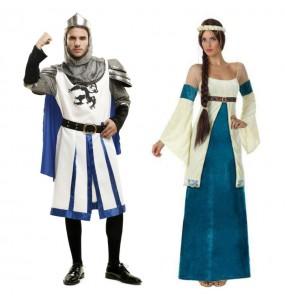 L'originale e divertente coppia di Medievali blu per travestirsi con il proprio compagno