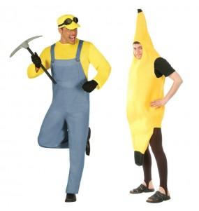 L'originale e divertente coppia di Minion e banana per travestirsi con il proprio compagno