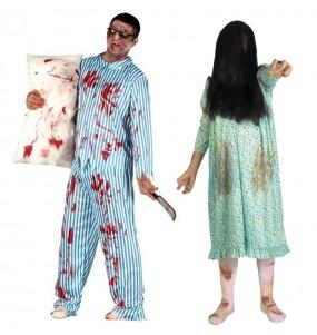 L'originale e divertente coppia di Zombies posseduti per travestirsi con il proprio compagno