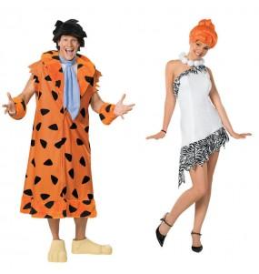 L'originale e divertente coppia di Fred e Wilma Flintstone deluxe per travestirsi con il proprio compagno