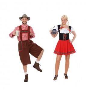 L'originale e divertente coppia di Tirolesi per travestirsi con il proprio compagno