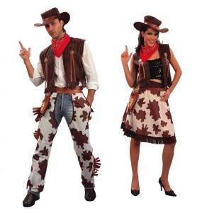 Travestimenti coppia Cowboys divertenti per travestirti con il tuo partner