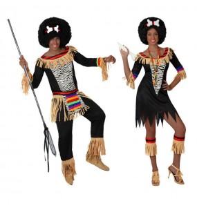 L'originale e divertente coppia di Zulu africani per travestirsi con il proprio compagno
