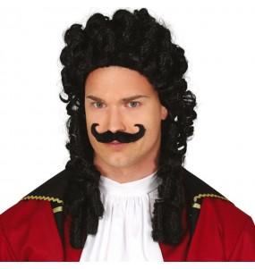 Parrucca Capitan Uncino con baffi
