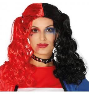 La più divertente Parrucca Harley Quinn Supervillain per feste in maschera