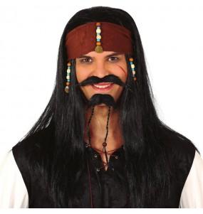 La più divertente Parrucca pirata Jack Sparrow per feste in maschera