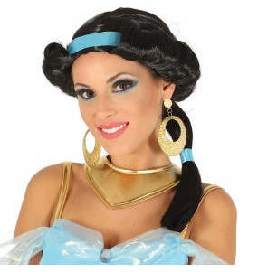 La più divertente Parrucca principessa Jasmin per feste in maschera