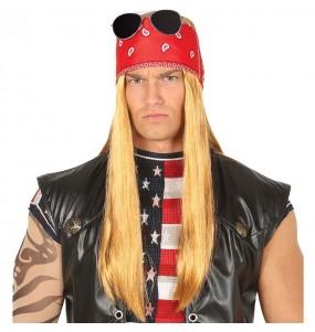 La più divertente Parrucca Heavy Rocker con Bandana per feste in maschera