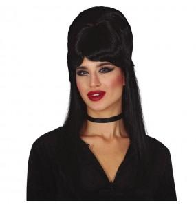 Parrucca nera da vampira