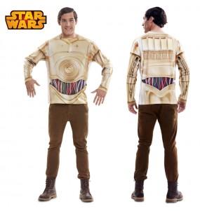 Travestimento T-shirt C-3PO adulti per una serata in maschera