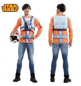 Travestimento T-shirt Luke Skywalker adulti per una serata in maschera