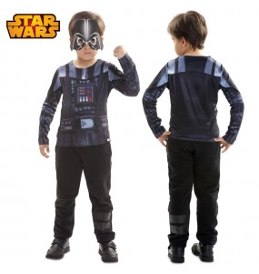 Travestimento T-shirt Darth Vader bambino che più li piace