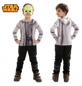 Travestimento T-shirt Maestro Yoda bambino che più li piace