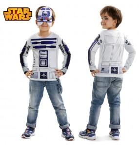 Travestimento T-shirt R2-D2 bambino che più li piace