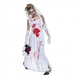 Costume Sposa Zombie donna per una serata ad Halloween