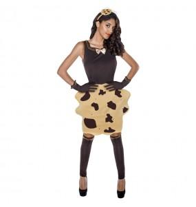 Travestimento Biscotto Cookie donna per divertirsi e fare festa
