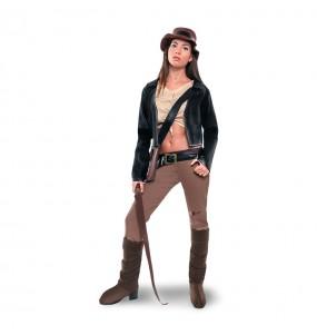 Travestimento Archeologa Indiana Jones donna per divertirsi e fare festa