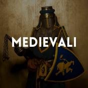 Catalogo dei costumi medievali per ragazzi, ragazze, uomini e donne
