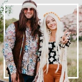 Acquista online i più originali costumi Hippie anni 60 per adulti e bambini