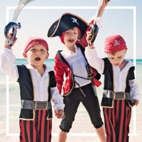 Acquista online i più originali costumi pirati per adulti e bambini