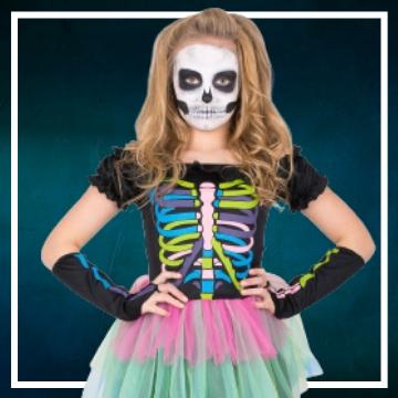 Acquista online i costumi di Halloween Catrina per bambina