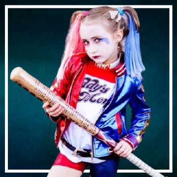 Acquista online i costumi di Halloween Harley Quinn per bambina