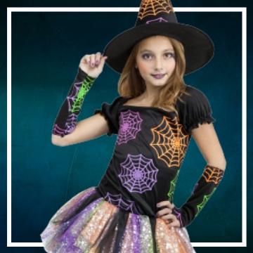 Acquista online i costumi di Halloween streghe per bambina
