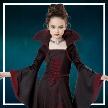 Acquista online i costumi di Halloween vampiro per bambina