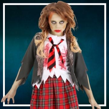 Acquista online i costumi di Halloween zombies per bambina