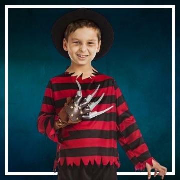 Acquista online i costumi di Halloween Freddy Krueger per bambini