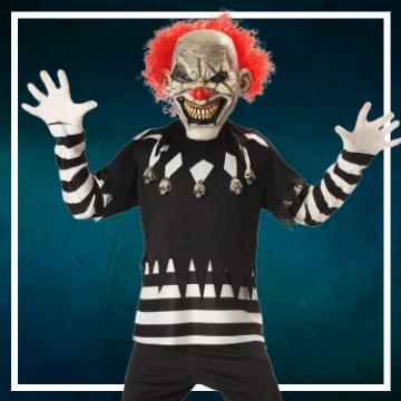 Acquista online i costumi di Halloween pagliacci per bambini