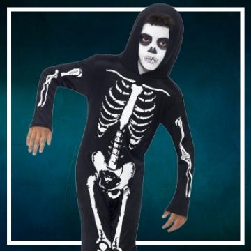Acquista online i costumi di Halloween scheletro per bambini