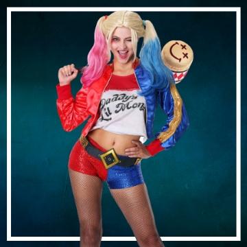 Negozio online di costumi di Halloween da Harley Quinn