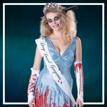 Negozio online di costumi di Halloween da zombie
