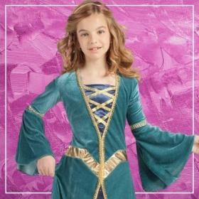 Acquista online i costumi più originali dei principesse e regine medievali per bambina
